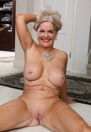 image 55 year old ranch milf flashes big tits