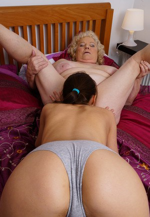 Grandmas hairy pussy is open for her young lover - 27 part 7